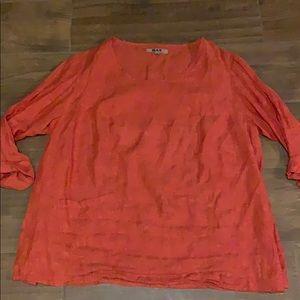 Flax Orange Linen Tunic